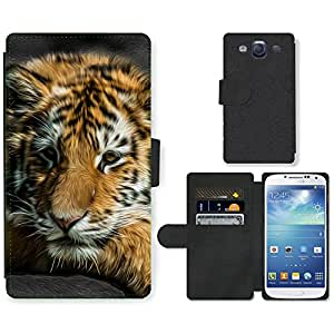 Hot Style Cell Phone Card Slot PU Leather Wallet Case // M99999761 Tiger Animal Pattern // Samsung Galaxy S3 S III SIII i9300