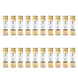 Areyourshop 20Pcs AGU Fuse Car Audio Power Safety Protection Glass Tube Gold Plated 80A