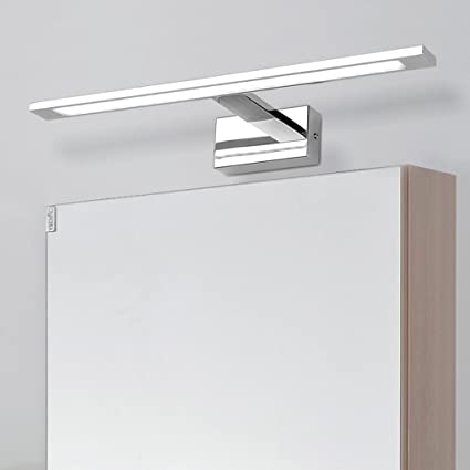 Stainless Steel Bathroom Mirror Front Light Warm White Light LED Bedroom  Wall Lamp Acrylic Makeup Mirror