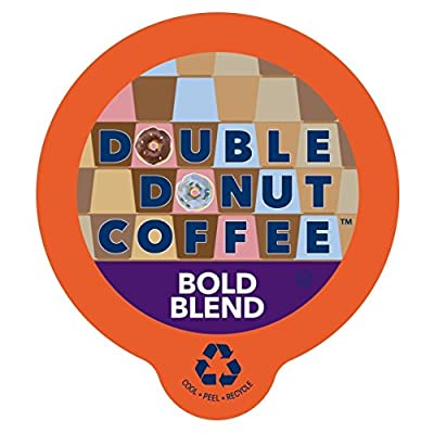 Double Donut Unflavored Coffee, Recyclable Single Serve Cups for Keurig K Cup Brewer, 80 Count