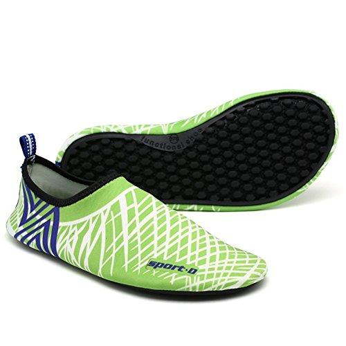 Chaussures de Plage Hommes Chaussures D'eau Vert Aquatiques Pieds Aux L'eau Et Chaussures de iLory Piscine Plage Femmes Nus Chaussures Awq4HPP