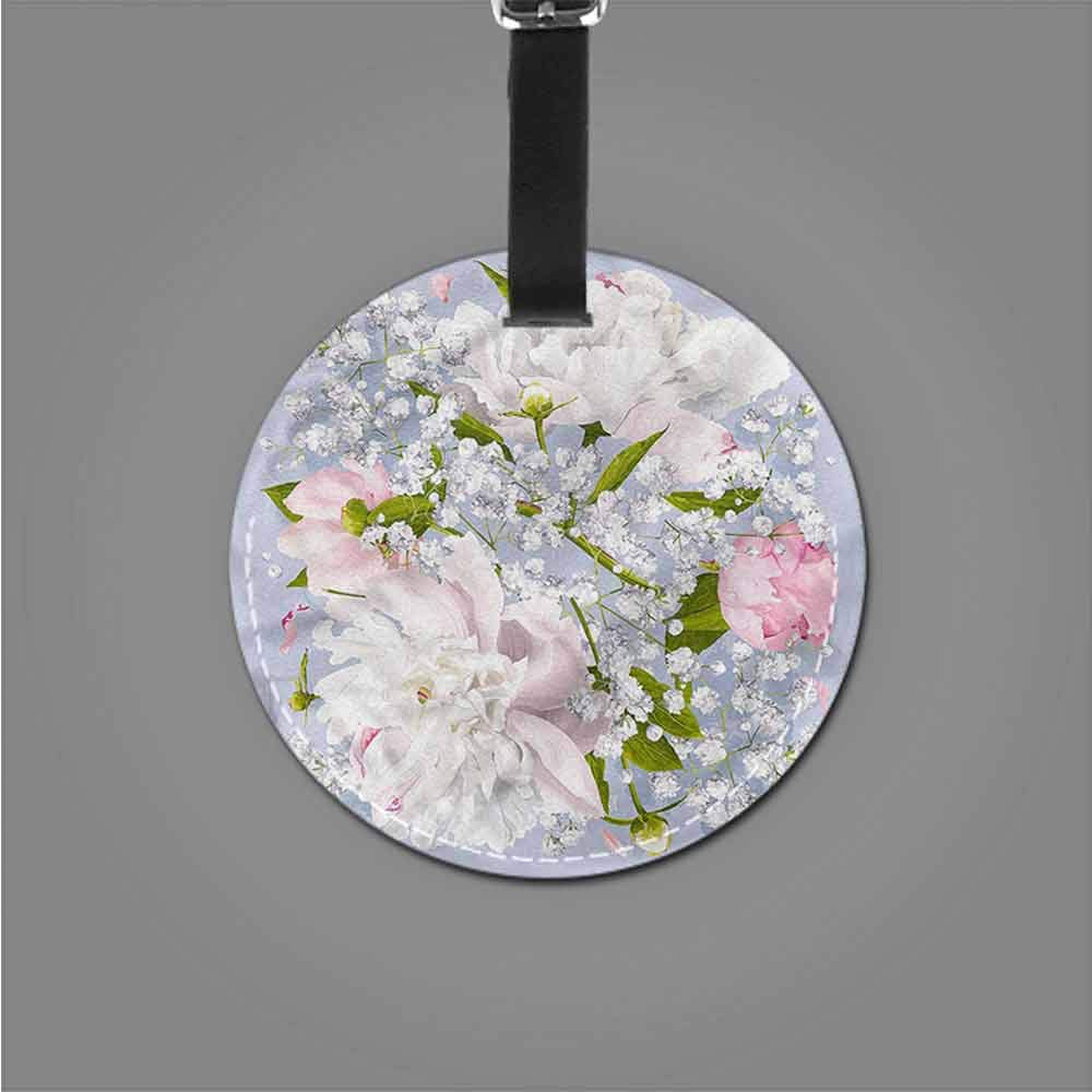 Personalized Flower,X-Ray Floral Nature Suitcase Tag