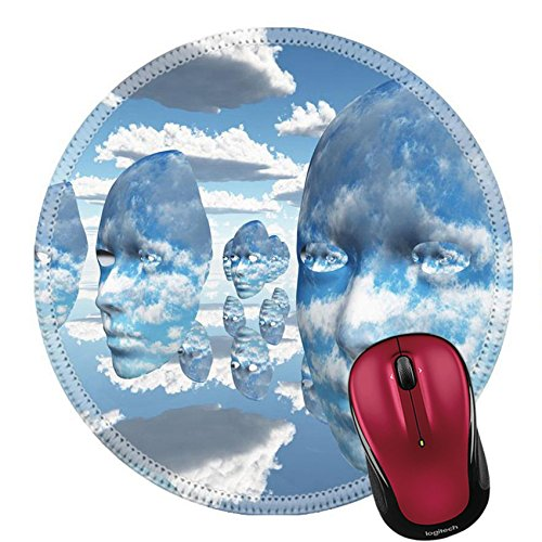 Abstract Concept Halloween Costume (Liili Round Mouse Pad Natural Rubber Mousepad Repeating faces of clouds IMAGE ID 11799933)
