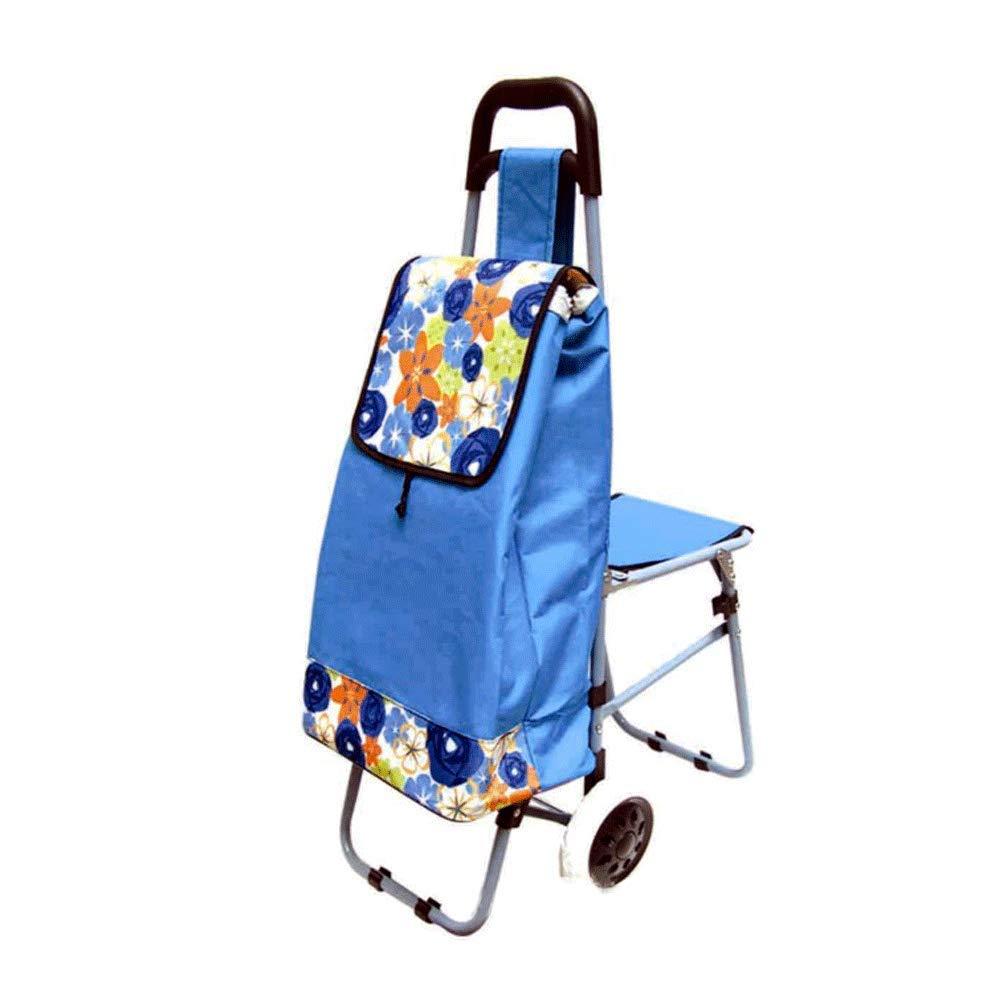 多機能トロリー折り畳みショッピングカート、野菜を購入する老人、階段を登る、ショッピングカート (色、小型カート Brown) (色 : Brown) B07K9HXCRN 青 青 青, ぽんぷやさん:36eb03bf --- anime-portal.club