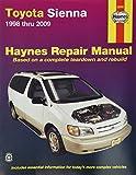 Haynes Repair Manual for Toyota Sienna 1998 thru 2009 Number 92090