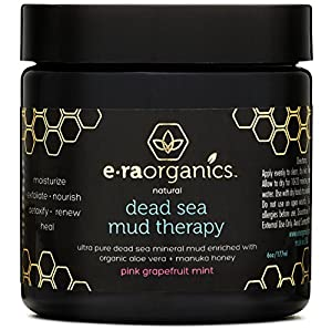 Era Organics Dead Sea Mud Mask with Organic Aloe Vera, Shea Butter, Manuka Honey & Hemp Oil - Spa Quality Face Mask to Cleanse, Moisturize & Exfoliate