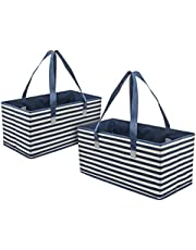 Planet E Reusable Foldable Washable Grocery Shopping Bags with Reinforced Bottoms