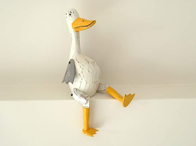 Shabby Chic Wooden Decorative Ducks Handcrafted from Bali