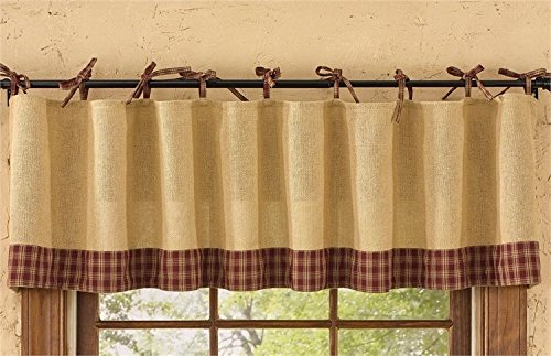 Park Designs Burlap and Tie Sturbridge Valance, 72 x 14