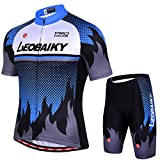 Leobaiky Men's Cycling Jersey Short Sleeve Men MTB Bike Clothing Road Bicycle Shirts