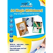 20 x WHITE Magic Whiteboard A4 Dry Erase Sheets for home, work and school