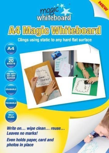 20 x WHITE Magic Whiteboard A4 Dry Erase Sheets for home, work and school MW1220