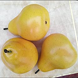 Gresorth 6pcs Artificial Lifelike Simulation Pear Fake Fruit Home Decoration