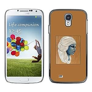 All Phone Most Case / Hard PC Metal piece Shell Slim Cover Protective Case Carcasa Funda Caso de protección para Samsung Galaxy S4 I9500 Egyptian goddess woman brown art