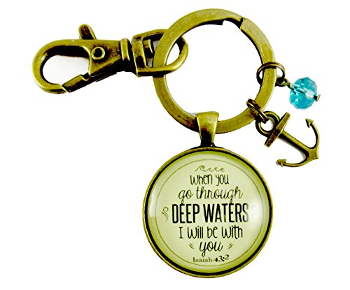when-you-go-through-deep-waters-keychain-isaiah-432-gods-scripture-promise-bronze-glass-vintage-styl