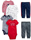 Simple Joys by Carter's Baby Boys 6-Piece Little Character Set, Red/Navy Bear, 18 Months