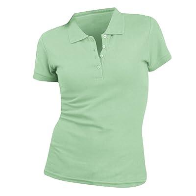 (ソールズ) SOLS レディース ピープル ピケ コットン 半袖ポロシャツ トップス 女性用