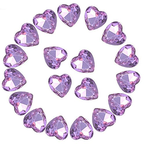 (Crystal Rhinestones 50pcs AB Crystals Pointback Heart Glass Rhinestone for DIY Crafts Jewelry Making,12mm,Light)