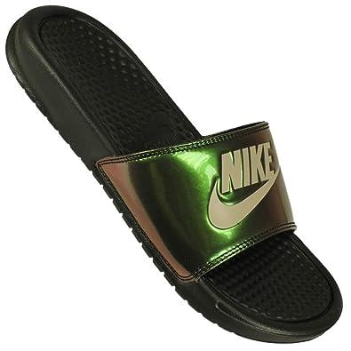 meet f1318 b3f6e NIKE Women s WMNS Benassi JDI Print Low-Top Slippers (Black Cobblestone  012), 6.5 UK 40.5 EU  Amazon.co.uk  Shoes   Bags
