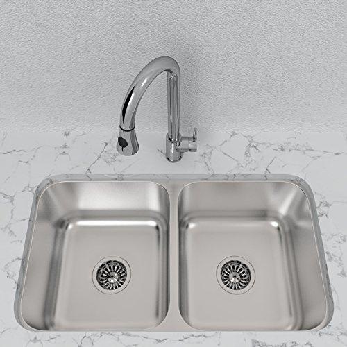 Double-Basin Stainless Steel Undermount Sink - Kitchen ...