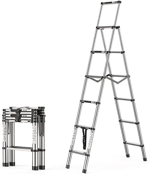 Escalera Plegable - Extensión Extensible De Aluminio Escalera Trapezoidal Plegable, Carga 330 Libras, En Línea con Las Normas En131 Y CE,5+6: Amazon.es: Jardín