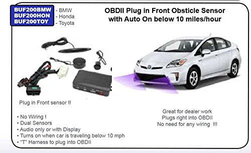Lessco Electronics Accele BUF200TOY FRONT PARKING OBSTICLE SENSORS FOR TOYOTA W/OBD2 PORT