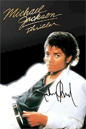 MICHAEL JACKSON /'THRILLER/' SIGNED PHOTO GOLD DISC COLLECTABLE MEMORABILIA GIFT