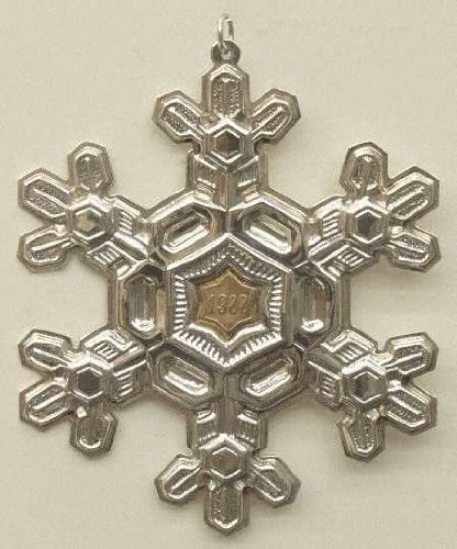 (Gorham Sterling Silver Snowflake Ornament - 1988)