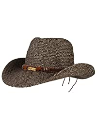 873685b3fcfa4 GEMVIE Cowboy Hat Floppy Sun Hat Straw Summer Beach Cap Wide Brim Straw Hats