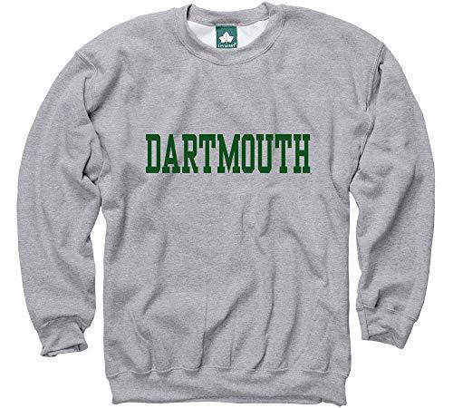 Ivysport Dartmouth College Crewneck Sweatshirt, Classic, Grey, Medium