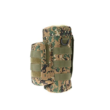 Tactical Hiking Camping Molle Water Bottle Holder Belt Carrier Pouch Nylon Bag