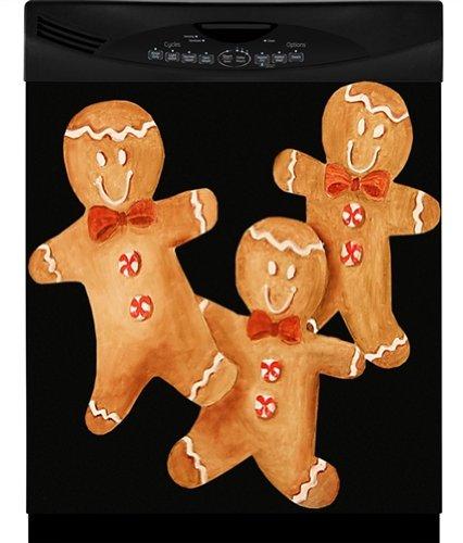 Gingerbread Men Custom Dishwasher Cover by Appliance Art