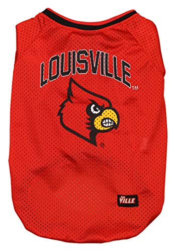 Mirage Pet Products Louisville Cardinals Jersey for Dogs and Cats, Large Cardinal V-neck Soccer Jersey