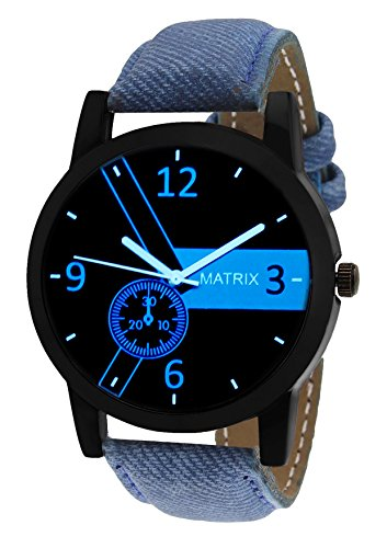 Matrix Casual Black Dial  Leather ....