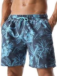 Nonwe Men's Swim Trunks Retro Soft Washed Drawstring Walk S
