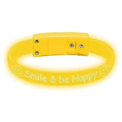 eaa34335b Amazon.com  Glowmaker Personalize   Custom Message - Light Up LED  Wristbands Bracelets (1 Piece)  Sports   Outdoors