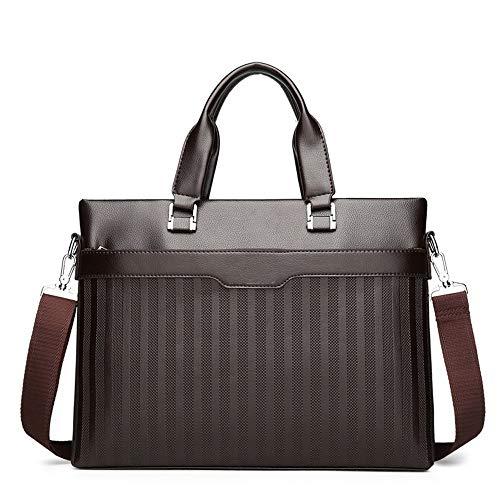 - AWMYHKDW Fashion Business Computer Tote New Trends Embossed Briefcase Personality Large Capacity Shoulder Messenger Men Bag, Brown