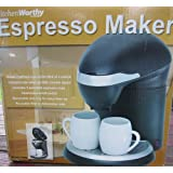 Kitchen Worthy (2 Cup) Espresso Coffee Maker by Kitchen Worthy Espresso Coffee Maker for 2