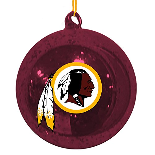Team Sports America Washington Redskins Mercury Glass Ball Ornament