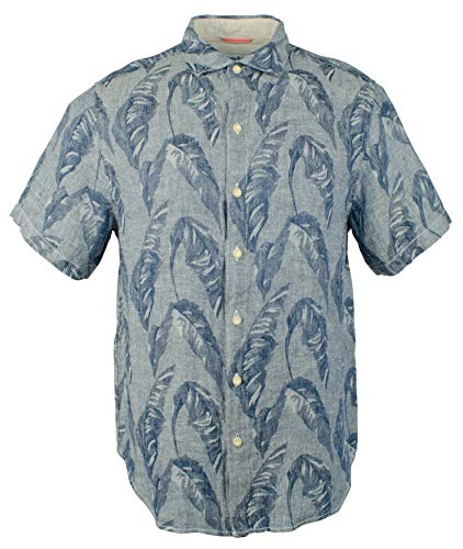 - Tommy Bahama Men's Help Me Fronda Linen Camp Shirt-OD-XL
