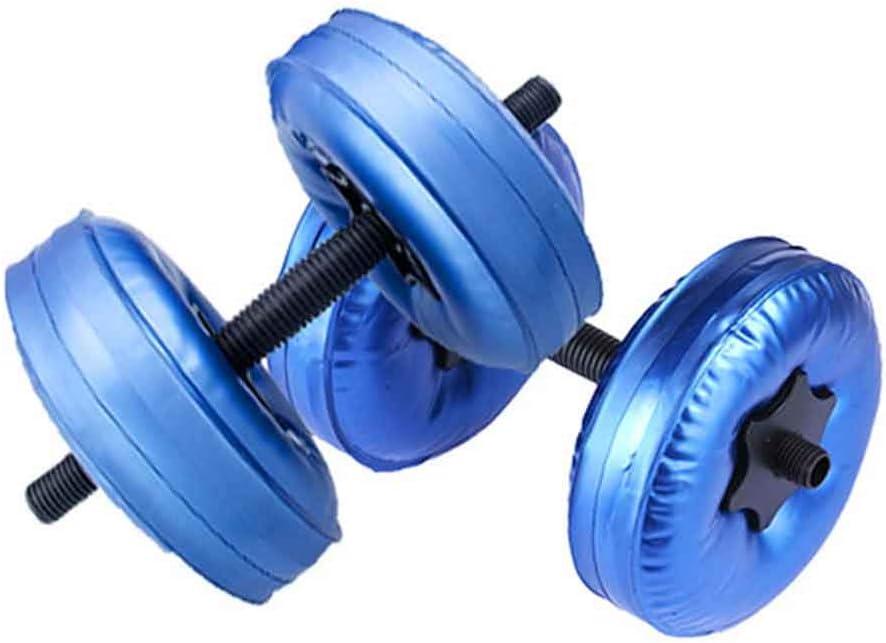 2 mancuernas llenas de agua, 10 kg ajustables, equipo de fitness para aeróbic acuático, fitness y ejercicios de piscina, color azul, tamaño Tamaño libre, 32.00 x 10.00 x 8.00centimeters