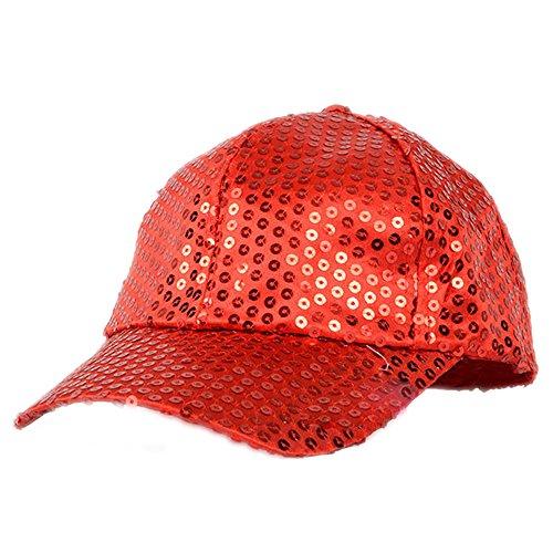 Elee Women Men Shining Sequin Baseball Hat Sequined Glitter Dance Party Cap Clubwear -