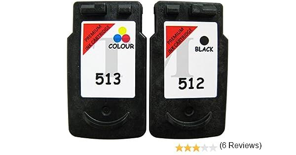Pack de cartuchos de tinta reciclados equivalentes a PG-512 y CL ...