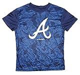 Atlanta Braves Youth Navy Blue Performance Primary Logo Digi Camo T-Shirt