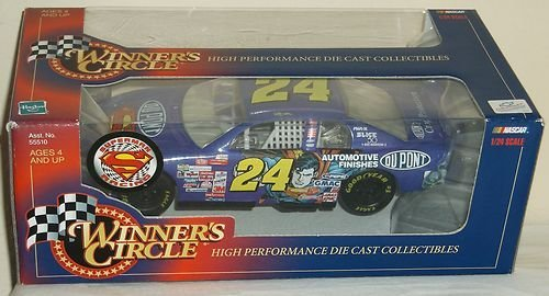 1999 Jeff Gordon #24 Dupont Automotive Finishes Superman 1/24 Scale Diecast Winners Circle from Winners Circle