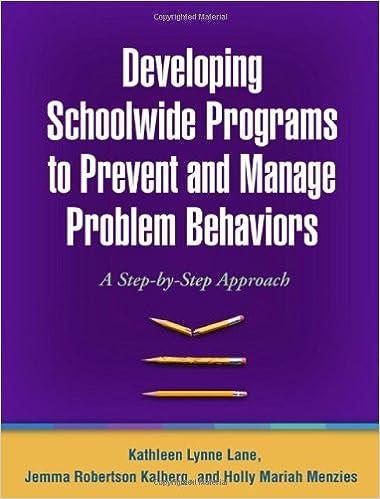 Ebooks téléchargement gratuit anglais Developing Schoolwide Programs to Prevent and Manage Problem Behaviors: A Step-b B001UZNA9C PDF