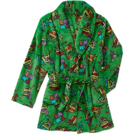 [Teenage Mutant Ninja Turtles Boys Plush Robe Size Medium 8] (Plush Turtle Kids Costumes)