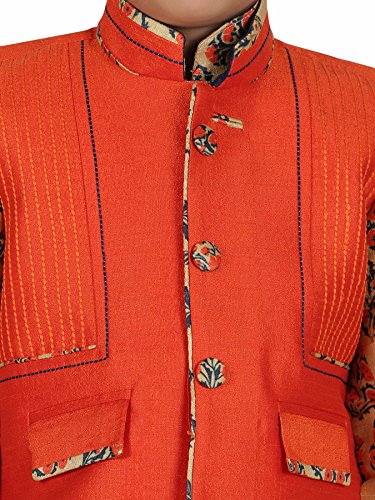AJ Dezines Kids Indian Wear Bollywood Style Kurta Pyjama Waistcoat for Baby Boys by AJ Dezines (Image #4)