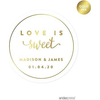 amazon com andaz press personalized round circle wedding favor gift