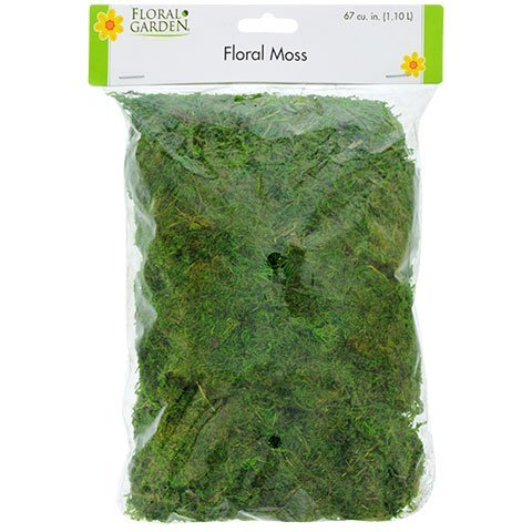 2 Pack Floral Moss 67 Cubic Inches/1.1 Liter